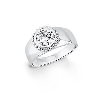 s.Oliver senhoras de joia anel prata zircônia cúbica SO1399