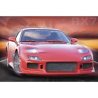 Mazda Rx7-Montage Poster Poster Print