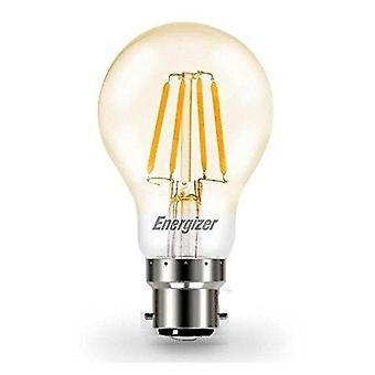 1 X Energizer LED Filament GLS Light Bulb Lamp Vintage BC B22 Clear 4.2W = 40W BC B22 Cap [Energy Class A+]