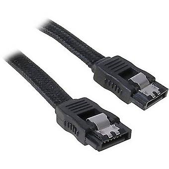 Bitfenix kiintolevyt Kaapeli [1x SATA socket 7-pin - 1x SATA socket 7-pin] 30,00 cm Musta