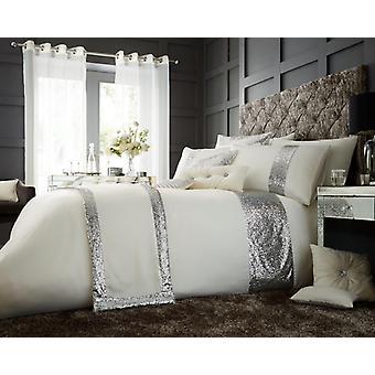Glamorøse Sequin Fancy Designer panelet dyne Quilt dekke luksus Bedding sette