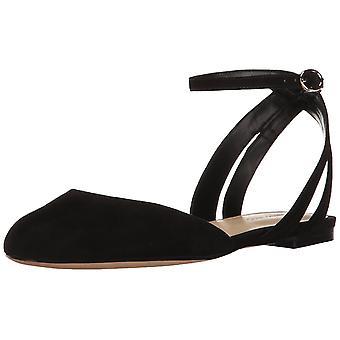 Negen West Womens Begany lederen gesloten teen Casual enkel riem sandalen