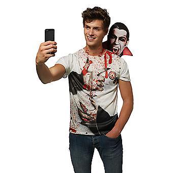 Vámpír Selfie sokkoló Vampire shirt jelmezes Unisex