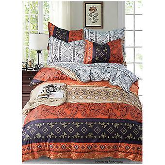 Moroccan Amberglow Abstract Duvet Quilt  Cover Paisley Bedding Set Pillow Case