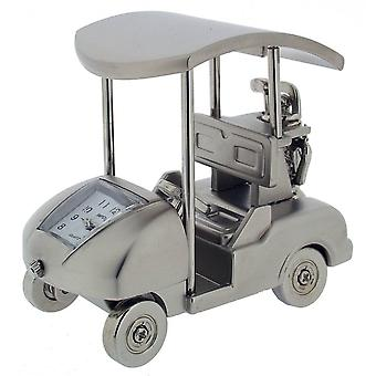 Gift Time Products Golf Cart Mini Clock - Silver