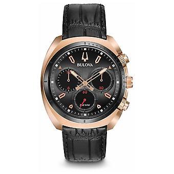 Bulova Miesten Sport Curv Chronograph Musta Nahka 98A156 Watch