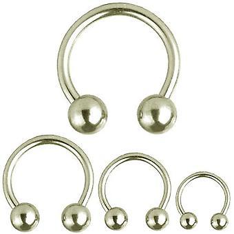 Barbell circulaire fer à cheval, Piercing, bijoux de corps, épaisseur 2, 4 mm   Diamètre 8-22 mm