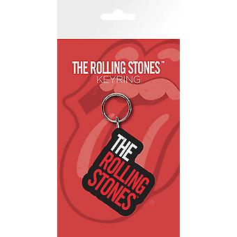 Official The Rolling Stones Keyring Keychain classic Band Logo new Rubber