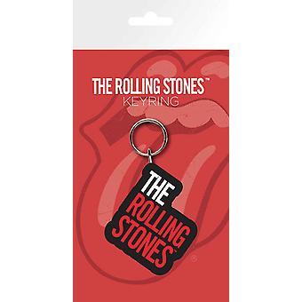 De Rolling Stones Keyring sleutelhanger klassieke bandlogo nieuwe officiële Rubber
