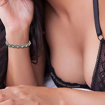 MPS® NORTHIA titane bracelet magnétique avec cristaux chatoyants + outil de redimensionnement