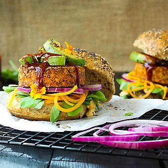 Paramount Frozen Vegan BBQ Lenitl & Mixed Seed Burgers