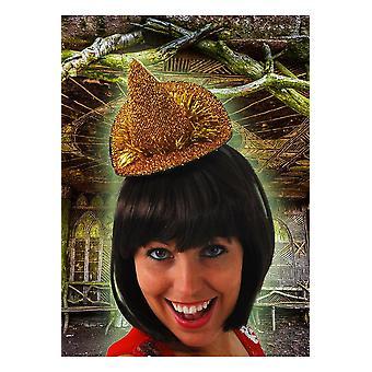 Accesorios para el cabello pequeño oro del sombrero de la bruja