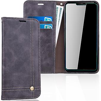 Cell phone cover case voor LG G7 cover Wallet case grijs