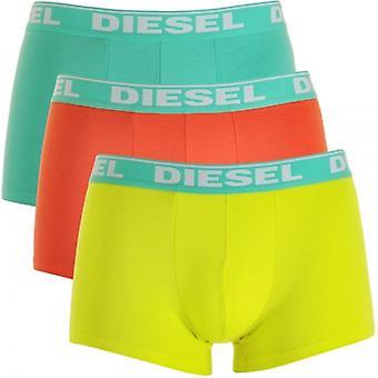 DIESEL fresco y brillante UMBX-Shawn Pack de 3 Boxer verde / naranja / amarillo, X-grande