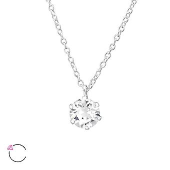 Round Crystal From Swarovski® - 925 Sterling Silver Necklaces - W32723x