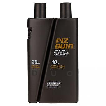 Piz Buin In Sun Lotion Duo FPS 10 200ml et FPS 20 100ML