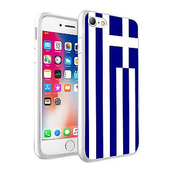 For Samsung Galaxy S6 Edge - Greece Flag Design Printed White Case Skin Cover - 0067 by i-Tronixs
