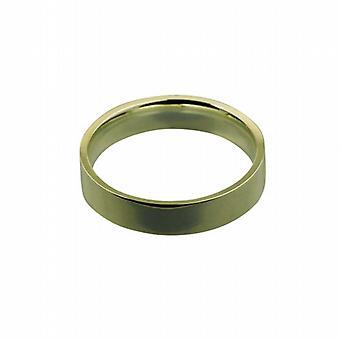 18ct fehérarany arany 5mm sima lakás bíróság alakú Karikagyűrű méret Z