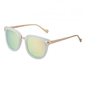 Bertha Jenna Polarized lunettes de soleil - vert menthe/or
