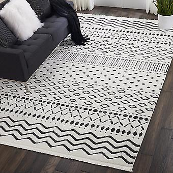Kamala DS501 White  Rectangle Rugs Traditional Rugs