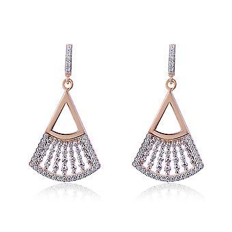 Orphelia Silver 925 Earring met afgeronde driehoek en zirkonium - ZO-7436