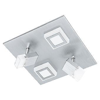 Eglo - Masiano 4 LED luz de teto e luz de holofote escovado alumínio EG94512