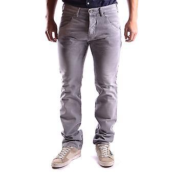 Neil Barrett Ezbc058009 Men's Grey Cotton Jeans
