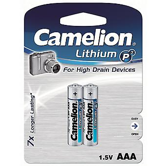 2-pack Battery AAA Lithium Camelion FR03