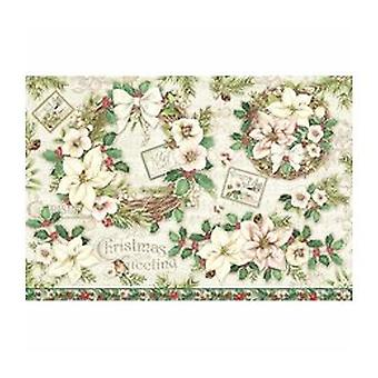 Stamperia Rice Paper 48x33cm Garland & Flowers (DFS414)