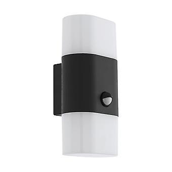 Lámpara de pared Dual PIR Exterior Eglo Favria 1 antracita