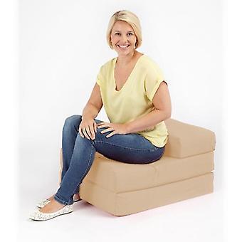 Cama estável pronta single 1 seater 100% algodão twill fold-out zbed futon colchão, pedra