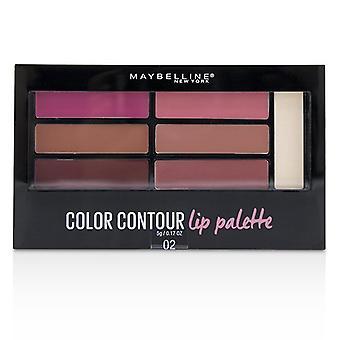 Maybelline kontur leppe fargepaletten - # 02 rødmet Bombshell 5g/0,17 oz