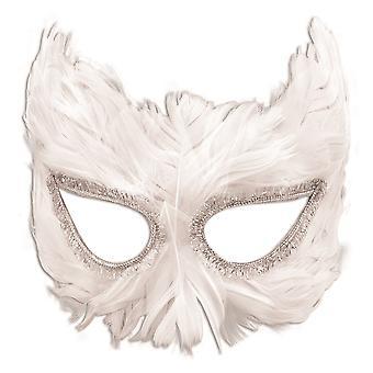 Bristol Novelty Unisex Adults Owl Feather Mask