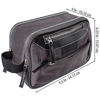 SHANY Cosmetics Portable Toiletry Makeup Bag with Various Compartments - Water-resistant and Scratch-proof Makeup Travel Organizer - Galactic Gray