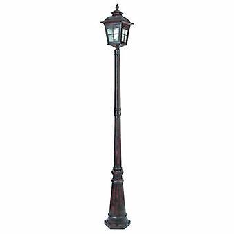 1 Light Outdoor Lampe Post Black Ip44