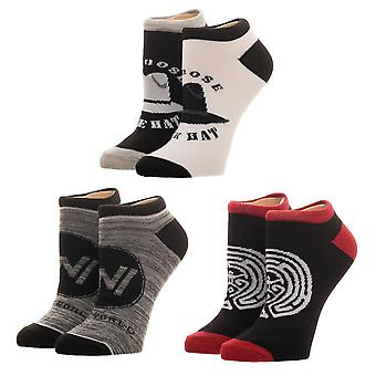 Ankle Sock - Westworld - 3PK New xs6427wes