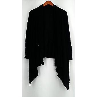 Lizden Sweater XS/S Whisperlush Open Front Cardigan Black A271930