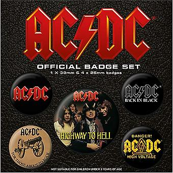 AC-DC Button Badge Set