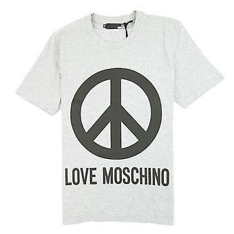 Love Moschino Peace Camiseta Gris/Negro