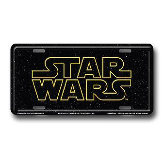 Star Wars Logo License Plate