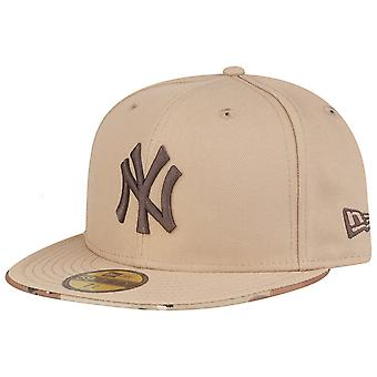 New Era 59Fifty Fitted Cap - MLB New York Yankees camel camo