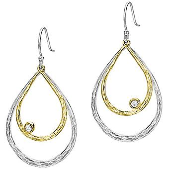 Dower & Hall Woman 925 Silver Ronde Transparent Topazio FINEEARRING