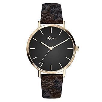 s. Oliver Quartz naisten analoginen kello SO-3849-LQ nahkavyö
