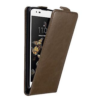 Cadorabo Hülle für LG K8 2016 Case Cover - Handyhülle im Flip Design mit Magnetverschluss - Case Cover Schutzhülle Etui Tasche Book Klapp Style