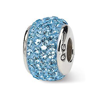 925 sterling sølv polert refleksjoner mars full krystall perle sjarm anheng halskjede smykker gaver til kvinner