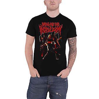 Bring Me The Horizon T Shirt Lightning Band Logo new Official Mens Black