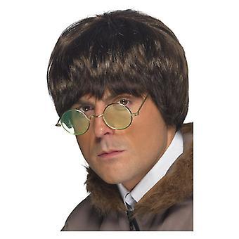 Mens Britpop peruk maskeraddräkter tillbehör