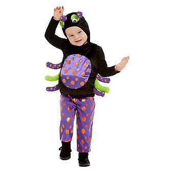 Småbørn Halloween Spider fancy kjole kostume