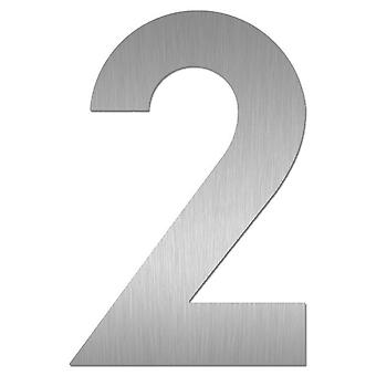 Nathan house number MIDI 2 stainless steel by 64472-072
