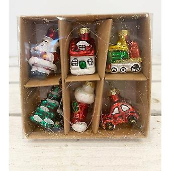 Traditional Christmas Decorations (Box Of 6)